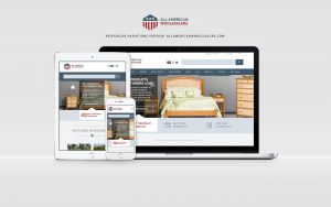 all american wholesalers website displayed on laptop, tablet, and phone