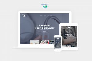 clean stream water website displayed on laptop, tablet, and phone