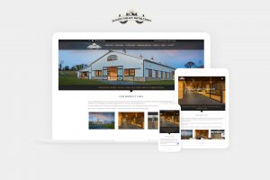 sunset valley metalcraft website displayed on laptop, tablet, and phone