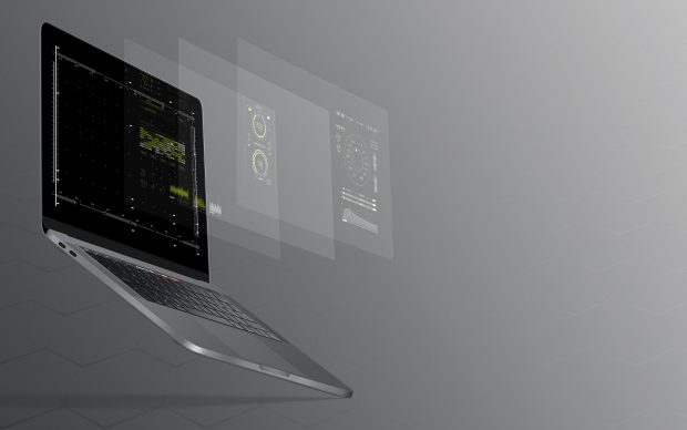 laptop with site design extended
